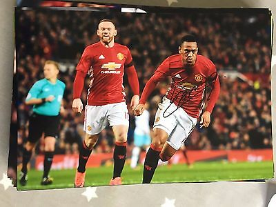 Anthony Martial Manchester United Fc Red Devils Hand Signed 12X8 Photo