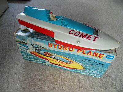 Comet Hydro Plane 1960's battery operated plastic boat