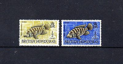 set of 2 mint fih themed stamps from british honduras