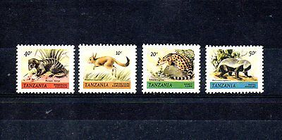 set of 4 mint animal themed stamps