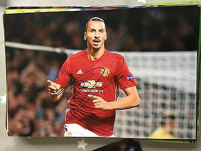 Zlatan Ibrahimovic Manchester United Fc Red Devils Hand Signed 12X8 Photo