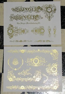 Waterslide Replacement Decals for an Antique Singer Sewing Machine model 127