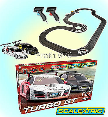 Micro Scalextric Turbo GT Racing Set 1:64 Scale G1118