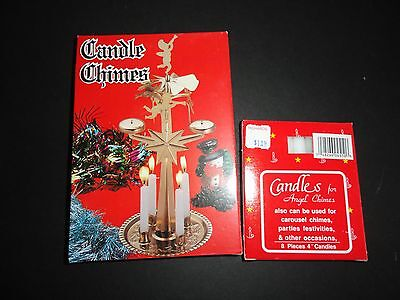 Christmas Candle Angel Chimes & Extra Candles Commodore Mfg