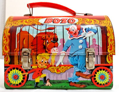 Vintage 1963 Bozo The Clown Metal Lunchbox By Aladdin