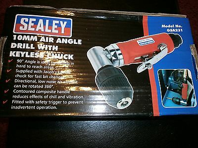 Sealey Air Angle Drill with 10mm Keyless Chuck GSA231