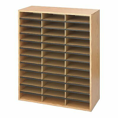 Safco Products 9403MO Literature Organizer Wood/Corrugated, 36 Compartment, Medi