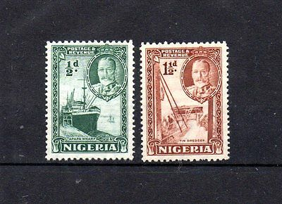 set of 2 mint no gum GV stamps from nigeria