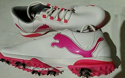 PUMA S2 QUILL GOLF SHOES LADIES 9.5 Soft-Spikes. BNWT