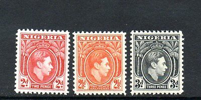 set of 3 mint GVI stamps from nigeria