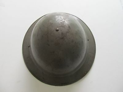 WW2 British Home front Helmet with Leather neck protection