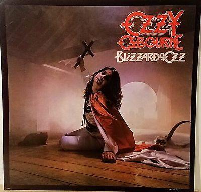 "OZZY OSBOURNE ""Blizzard Of Ozz' Promo album flat suitable for framing Mint! 1981"