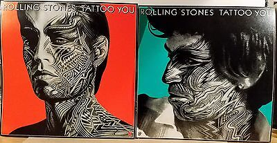 ROLLING STONES 'TATTOO YOU' Matching pair of promo album flats 1981
