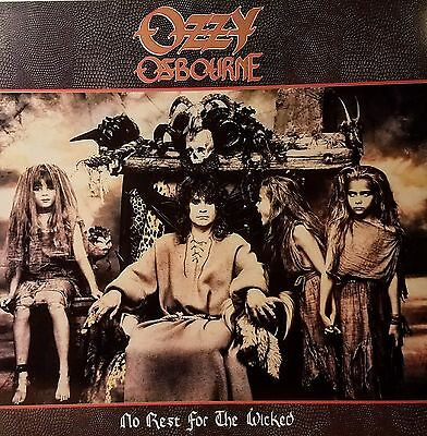"OZZY OSBOURNE ""No Rest For The Wicked""  Promo flat suitable for framing Mint '88"