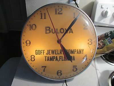 Goff Jewelry Co. Tampa FLA Advertising Clock Watches Repair Service Sign Pam {?}