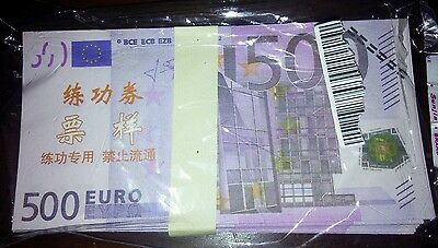 500 eruro Chinise training banknote Buyer will receive one note