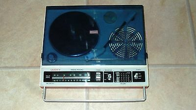 Small Lucky KP-747 'Toy' Portable Record/Radio Player 60's 70's