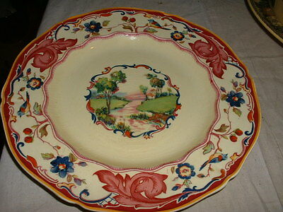 """Vintage Hand Painted """"royal Venton Ware"""" Pottery Decorative Plate"""
