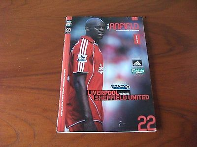 Liverpool versus Sheffield United football programme 2007