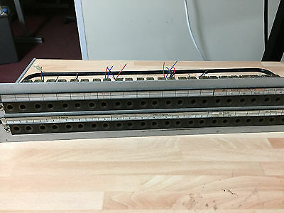 2x 2u GPO patchbay - 48 Mosses and Mitchell and 40 socket