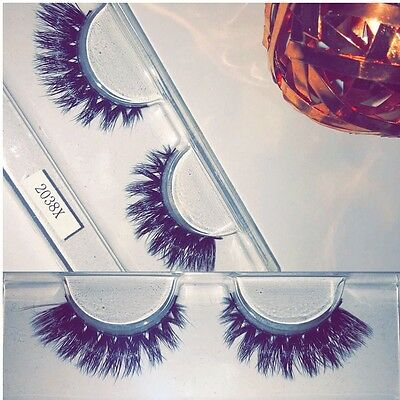 3D Luxury Mink False Eyelashes Handmade Reusable Lashes Thick Full Night Out