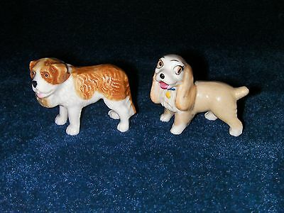 Wade Whimsies, St Bernard Dog and Lady from Lady and the tramp.