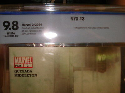 marvel comics nyx #3 cbcs 9.8 1st appearance wolverines daughter laura kinney!!
