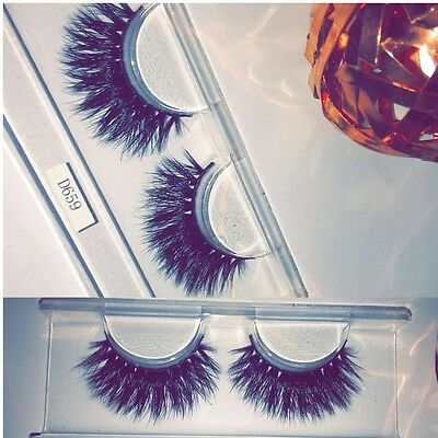 3D Luxury Mink False Eyelashes Handmade Reusable Full Very Long Party Night Out