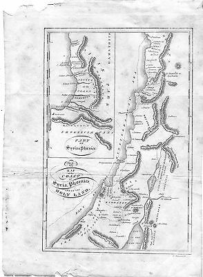 1828 Map Of The Coast Of Syria, Phoenice, And Of The Holy Land