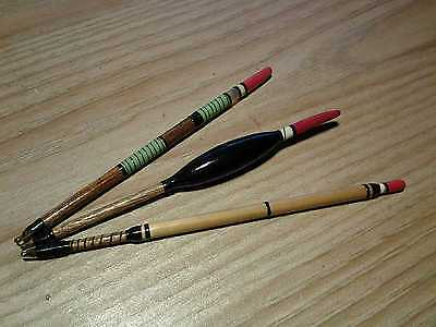 Set Of Three Hand Made Replica Traditional Victorian Style Fishing Floats