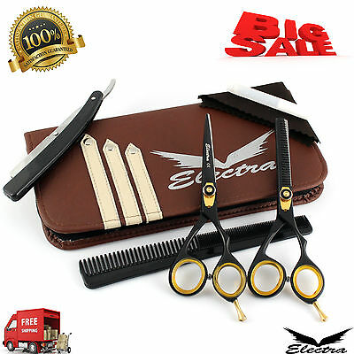 """5.5""""Professional Barber Hair Cutting & Thinning Scissors Shear Hairdressing Sets"""