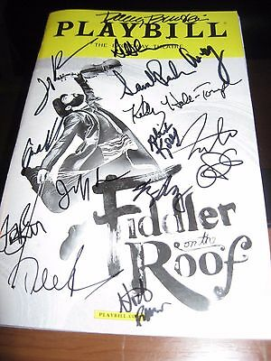 Fiddler on the Roof Broadway playbill Autographed by Burstein, Kuhn & cast