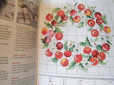 Veronique Enginger,Point de Croix,Buch 1,über 50 Motive,Kirschen,Blumen,Sampler