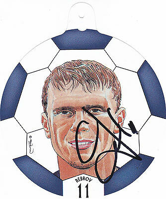SERGEI REBROV Hand Signed Football Face Picture