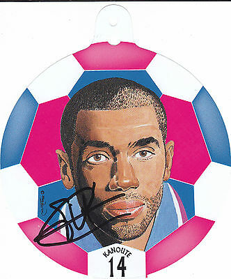 FREDERIC KANOUTE Hand Signed Football Face Picture