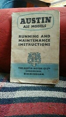 Austin A35 models running and maintenance instructions