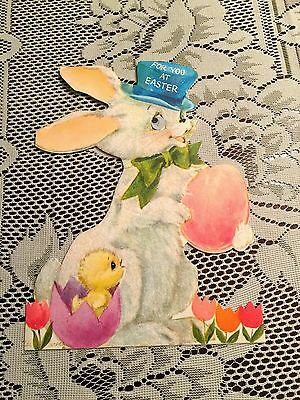 Vintage Easter Bunny Hallmark Card 1964 Large Great Condition