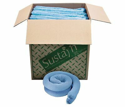 Sustain by Spilfyter M-34 Oil Sorbent Sock, 48 In, Recycled, (QTY 40), 5749zB6P