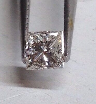 .10ct Natural Loose Princess Cut Diamond I1 Clarity H color 2.5mm OBO Free Ship