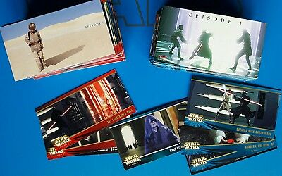 Star Wars Episode 1 TOPPS WIDEVISION cards set 1 & 2, 1999 *COMPLETE*