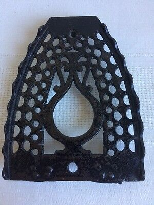 Antique Bless & Drake Cast Iron Oil Jar Sad Iron Trivet