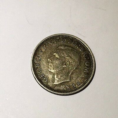 1945 - George VI - Silver Sixpence