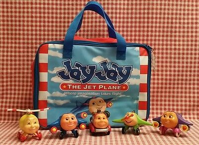 Jay Jay The Jet Plane Case & 5 Wooden Figures
