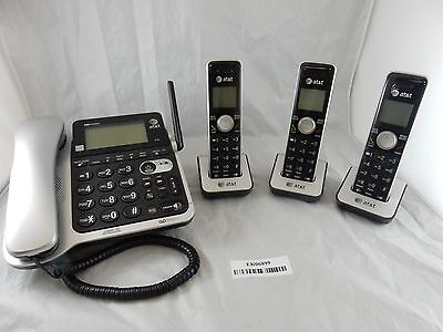 AT&T CL84352 3 Handset Corded/Cordless Answering System with Caller ID Phone