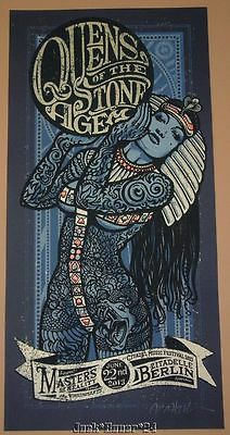 Lars Krause Queens of the Stone Age Berlin Poster Print Signed Numbered Art 2013