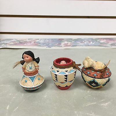 3 Different Figurines-Friends of the Feather-Enesco