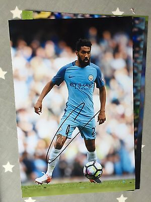 Gael Clichy Manchester City Fc Hand Signed 12X8 Photo