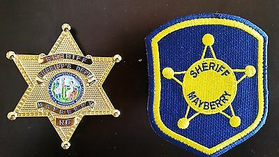 Andy Griffith TV Show - Mayberry Sheriff Badge and Patch Set Prop Replica