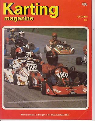 Karting Magazine October 1980 : see below for content listing: Rare !