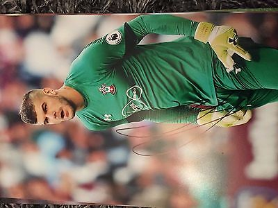 Fraser Forster Southampton Fc Saints Hand Signed 12X8 Photo